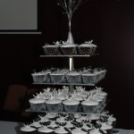 Black & White Cupcake Tower